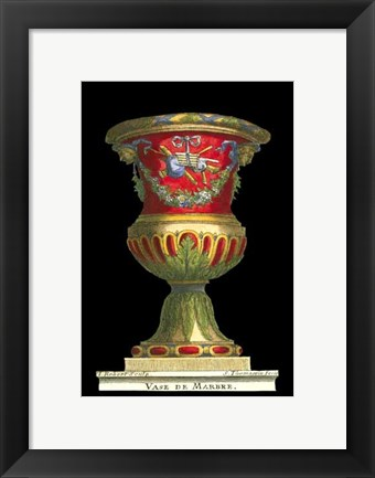 Framed Small Vase with Instruments (IP) Print