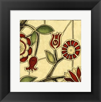 Framed Small Floral Mosaic II Print