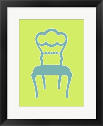 Framed Small Graphic Chair IV (U) Print