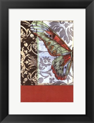 Framed Small Butterfly Tapestry I (P) Print