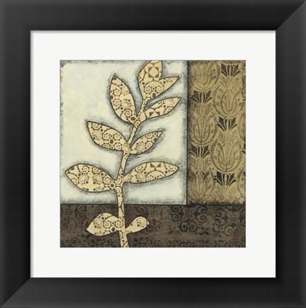 Framed Sm Neutral Leaves &Patterns III (P) Print