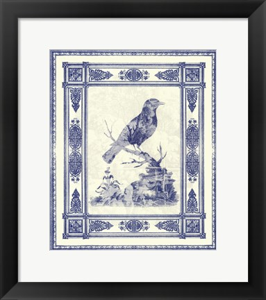 Framed Small Toile de Jouy I (P) Print