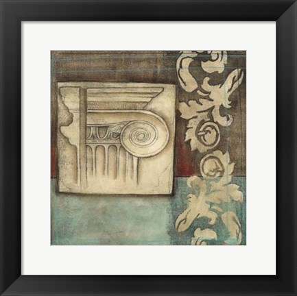 Framed Damask Tapestry with Capital I Print