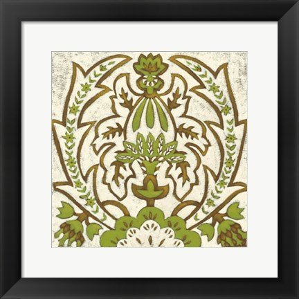 Framed Small Lotus Tapestry II Print
