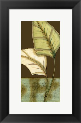 Framed Small Palm Leaf Arabesque I (P) Print