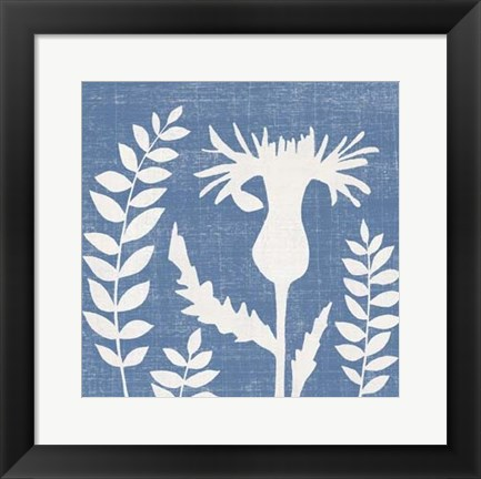 Framed Small Blue Linen III (P) Print