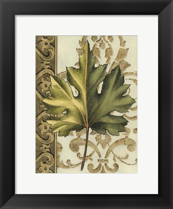 Framed Small Leaf Assortment I (U) Print