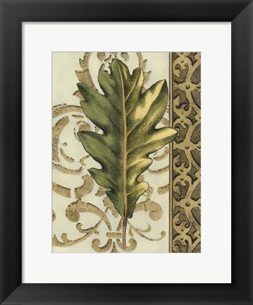 Framed Small Leaf Assortment III (U) Print