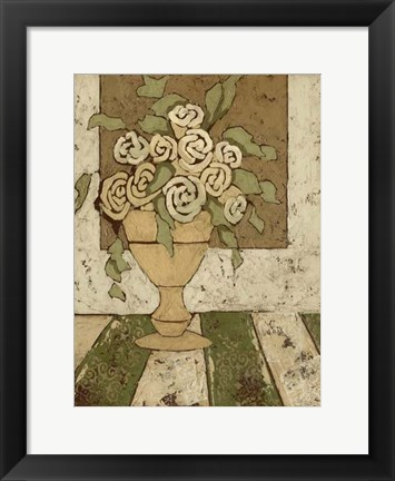 Framed Small Golden Bouquet I Print