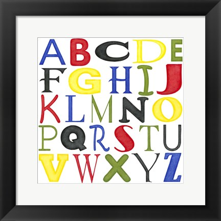Framed Kid's Room Letters Print