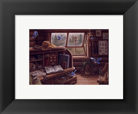 Framed Birdwatchers Retreat Print