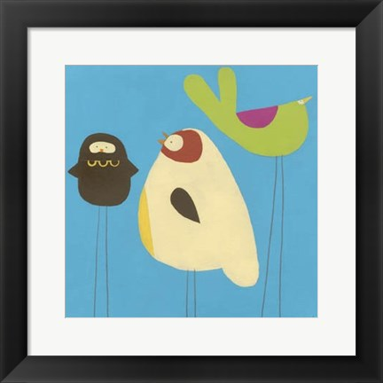 Framed Feathered Friends III Print