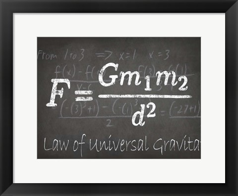 Framed Mathematical Elements II Print