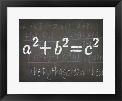 Framed Mathematical Elements IV Print
