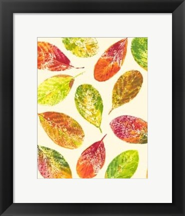 Framed Vibrant Leaves I Print