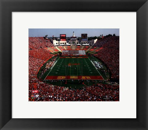 Framed Los Angeles Memorial Coliseum USC Trojans 2006 Print