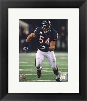 Framed Brian Urlacher 2010 Action Print