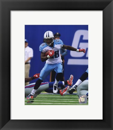 Framed Chris Johnson 2010 Action Print
