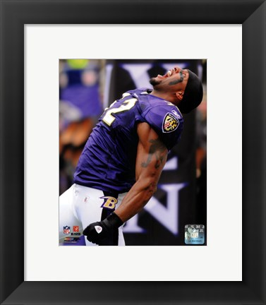 Framed Ray Lewis 2010 Action Print