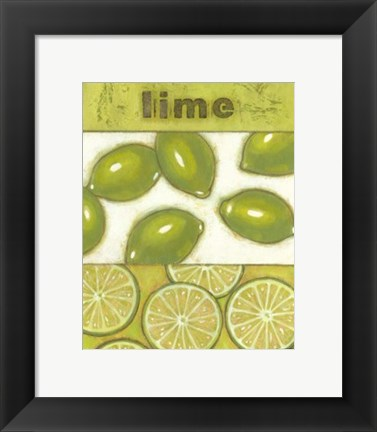 Framed Lime Print