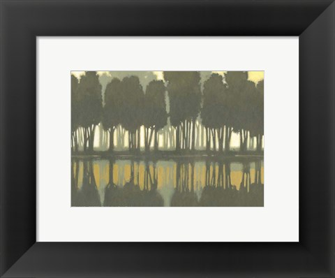 Framed Lake at Dawn II Print