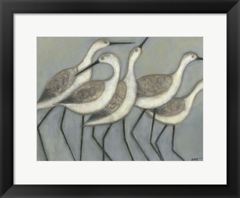 Framed Shore Birds II Print