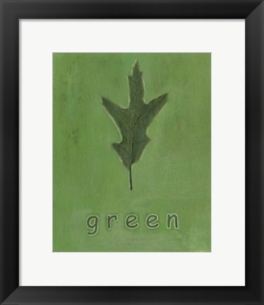 Framed Going Green I Print