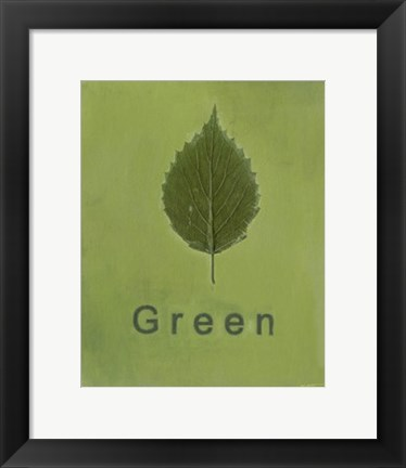 Framed Going Green II Print