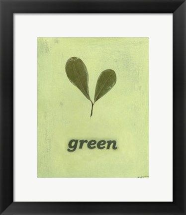 Framed Going Green III Print