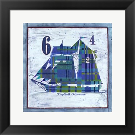 Framed Top Sail Schooner Print