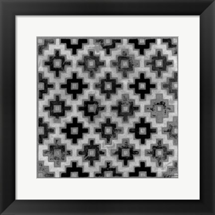 Framed Mudcloth Black & White II Print