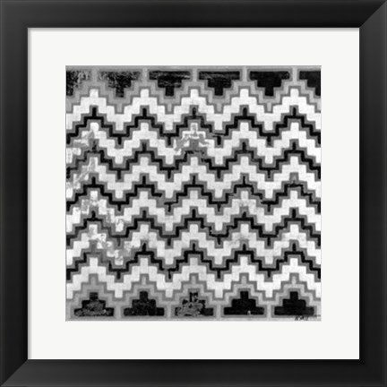 Framed Mudcloth Black & White III Print