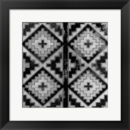 Framed Mudcloth Black & White IV Print