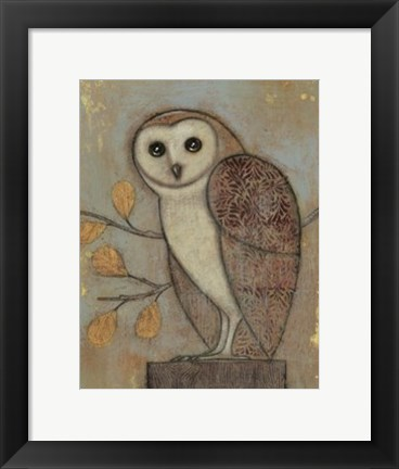 Framed Ornate Owl II Print