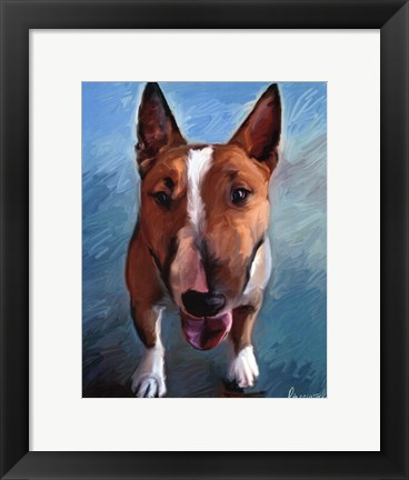 Framed Spike Bull Terrier Print