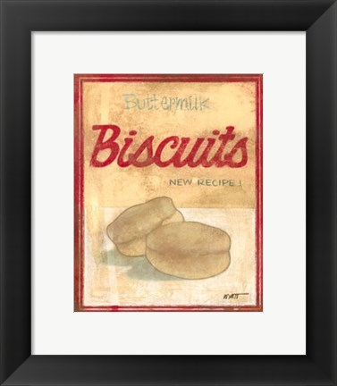 Framed Buttermilk Biscuit Mix Print