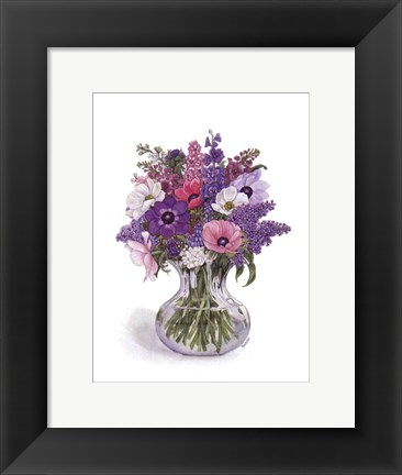 Framed Anemone Bouquet Print