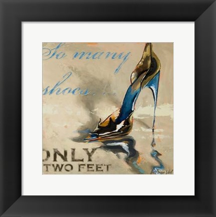 Framed So Many Shoes Print