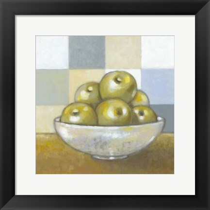 Framed Green Apples Print