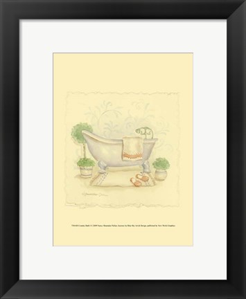 Framed Country Bath I Print