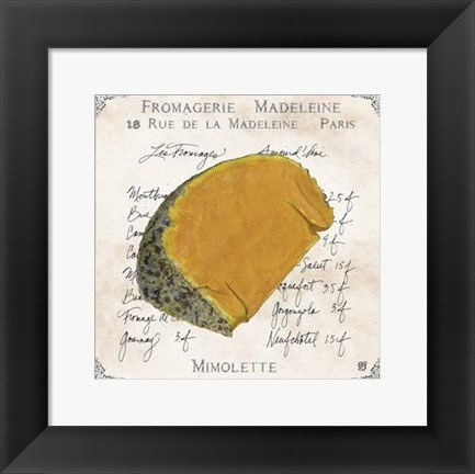 Framed Fromages III Print