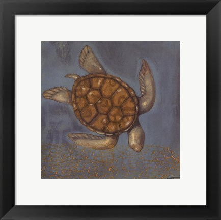 Framed Sea Turtle I Print