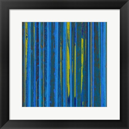 Framed Royal Stripes II Print