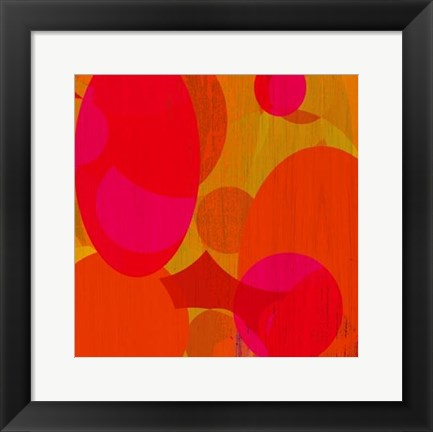 Framed Warm Ellipses I Print