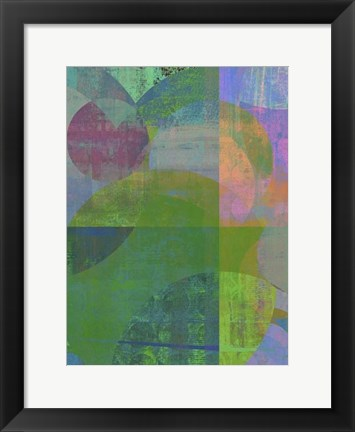 Framed Pastel Quadrants II Print