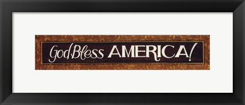 Framed God Bless America Print