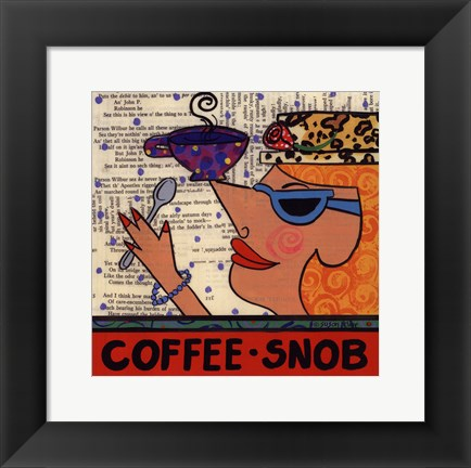 Framed Coffee Snob Print