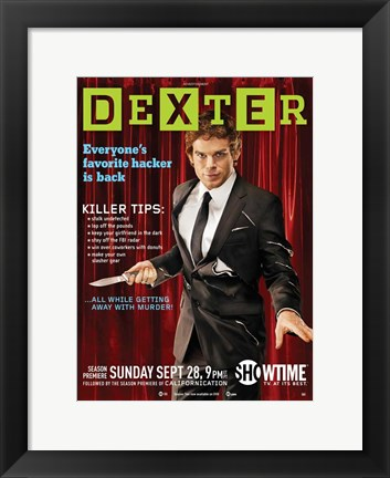 Framed Dexter Wired Spoof Print
