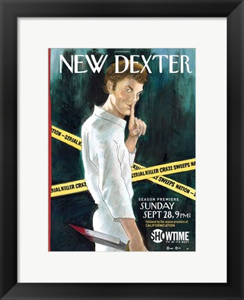 Framed Dexter New York Times Spoof Print