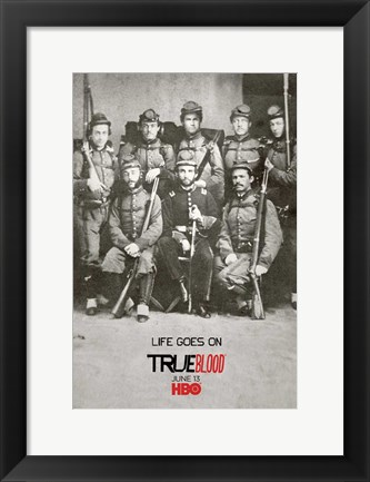 Framed True Blood Life Goes On Print